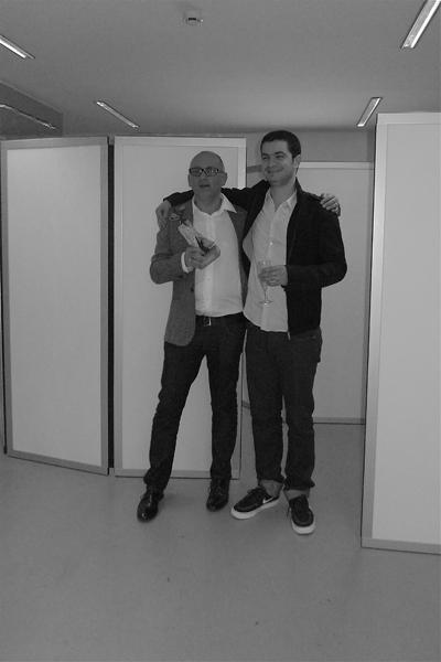 The dream team : l'éditeur Frédéric Houdaille et l'auteur Jérémie Guez